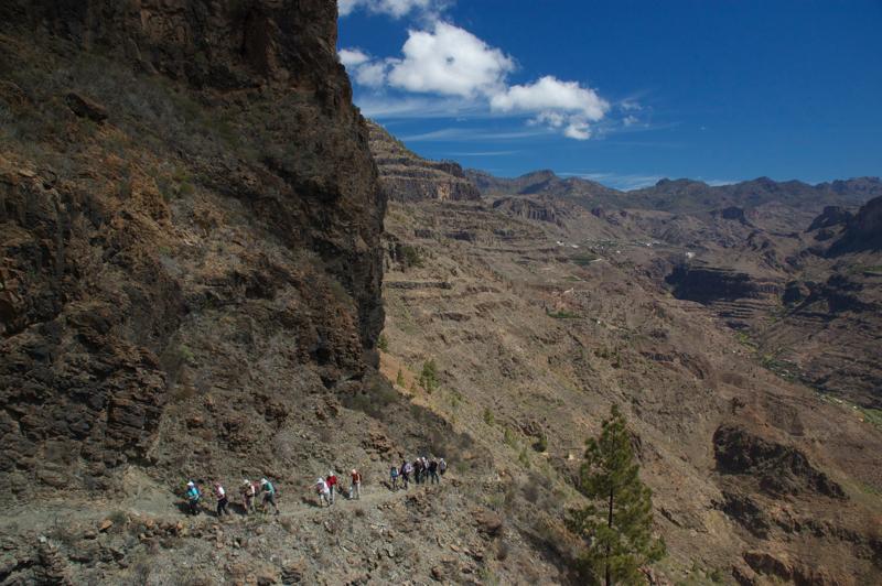 Wanderweg von San Bartolome zum Manzanilla Pass, Gran Canaria