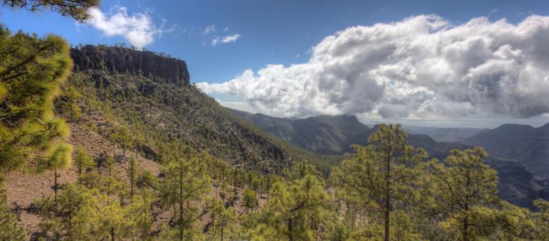Blick vom Manzanilla Pass in den Süden von Gran Canaria