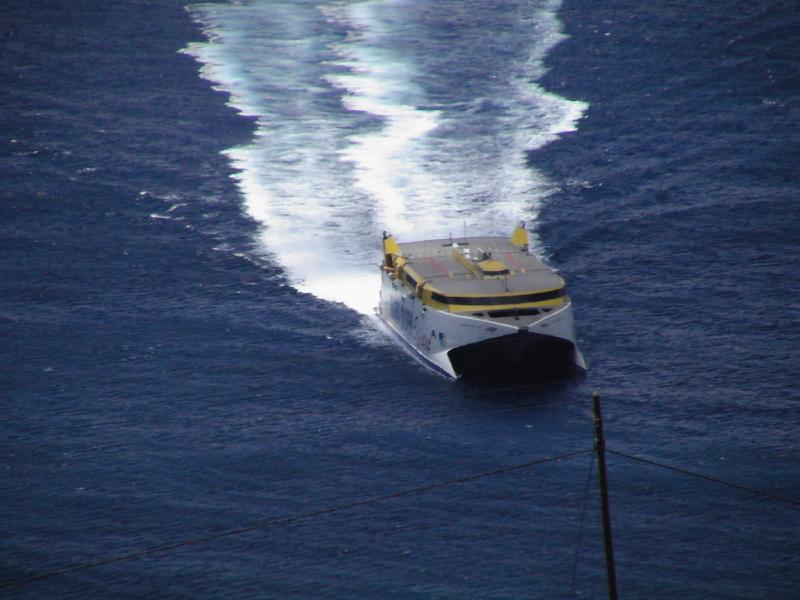 Fred Olsen Katamaran, Anreise Hafen La Gomera.