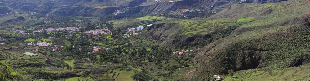 Blick auf den Ort Santa Lucia im Südosten von Gran Canaria