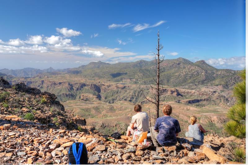 Wandergruppe im Südwesten von Gran Canaria.