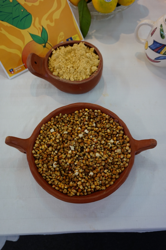 Gerösteter Mais als Basis für Gofio