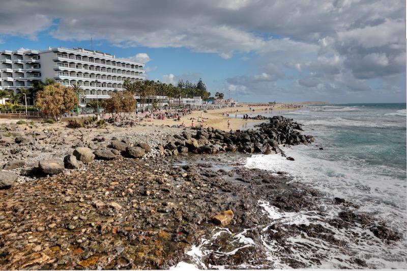 Hotels und Strand von Maspalomas