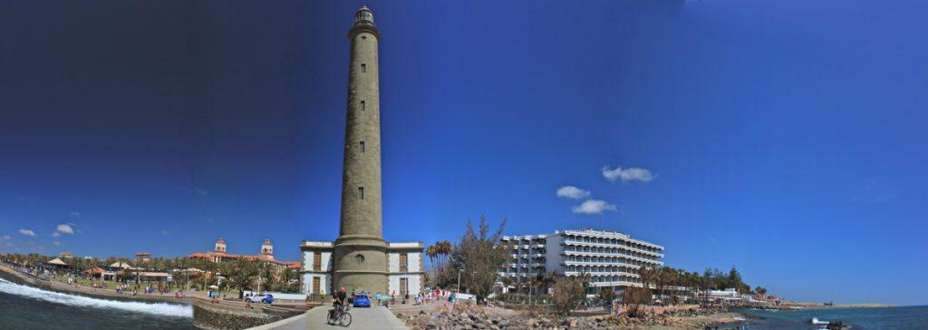 Leuchtturm und Hotels von Maspalomas, Gran Canaria